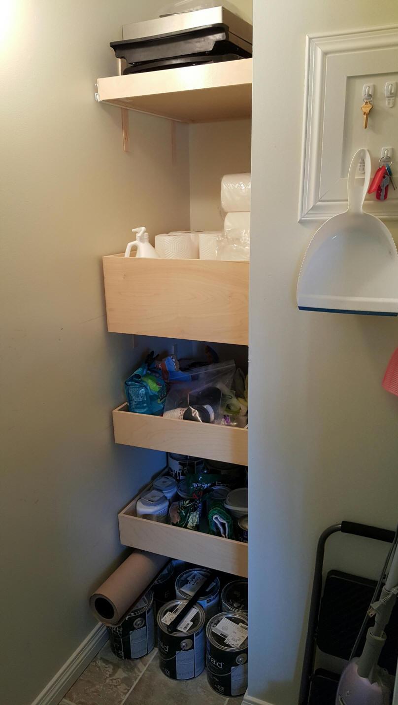 Shelves That Slide Custom Diy Kitchen Cabinet Pull Out